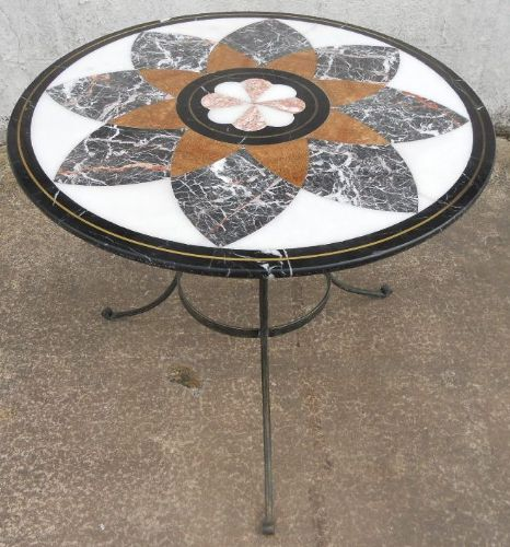Round Marble Top Pedestal Centre Table in the Victorian Style
